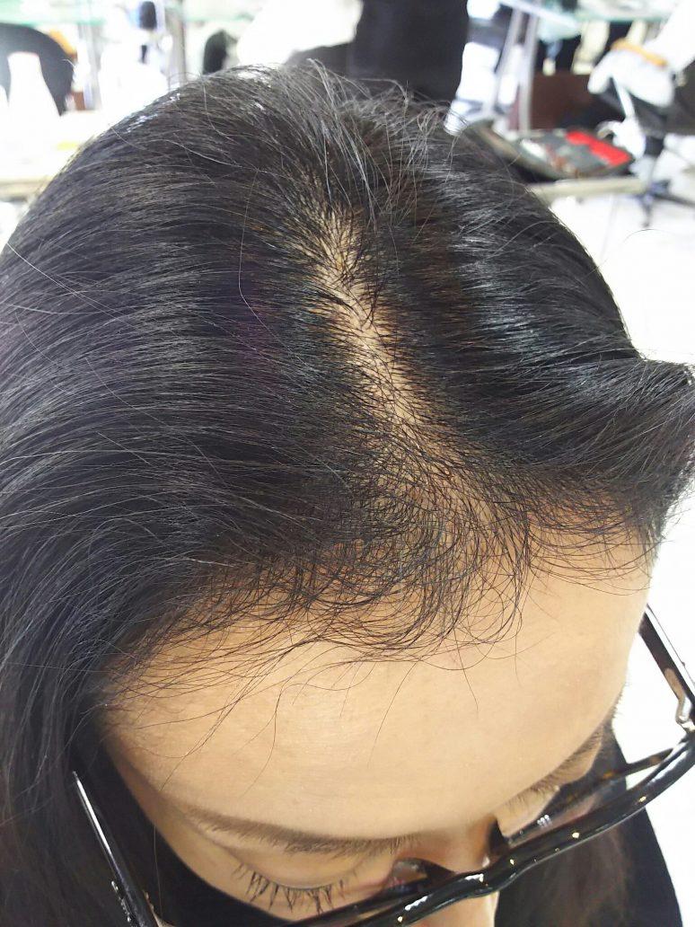 天然 パーマ 前髪